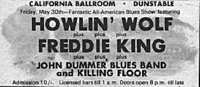 Howlin Wolf and Freddie King Advert