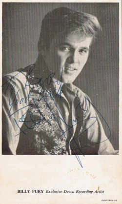 Billy Fury promo photo