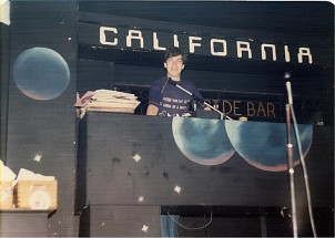 Paul Gray behind the decks at the California Ballroom